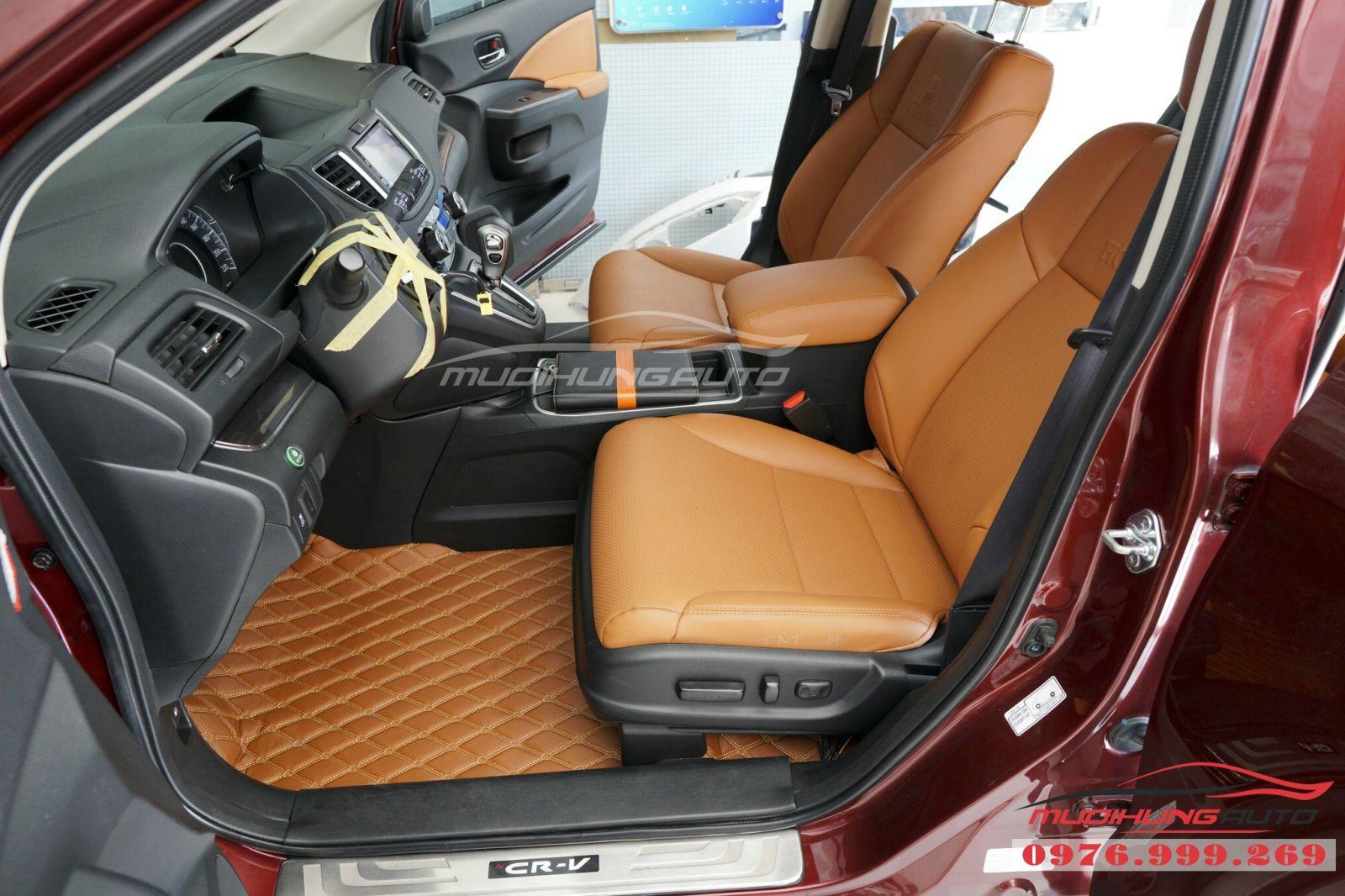 Lót sàn da 5D cao cấp cho Honda CRV giá tốt 06
