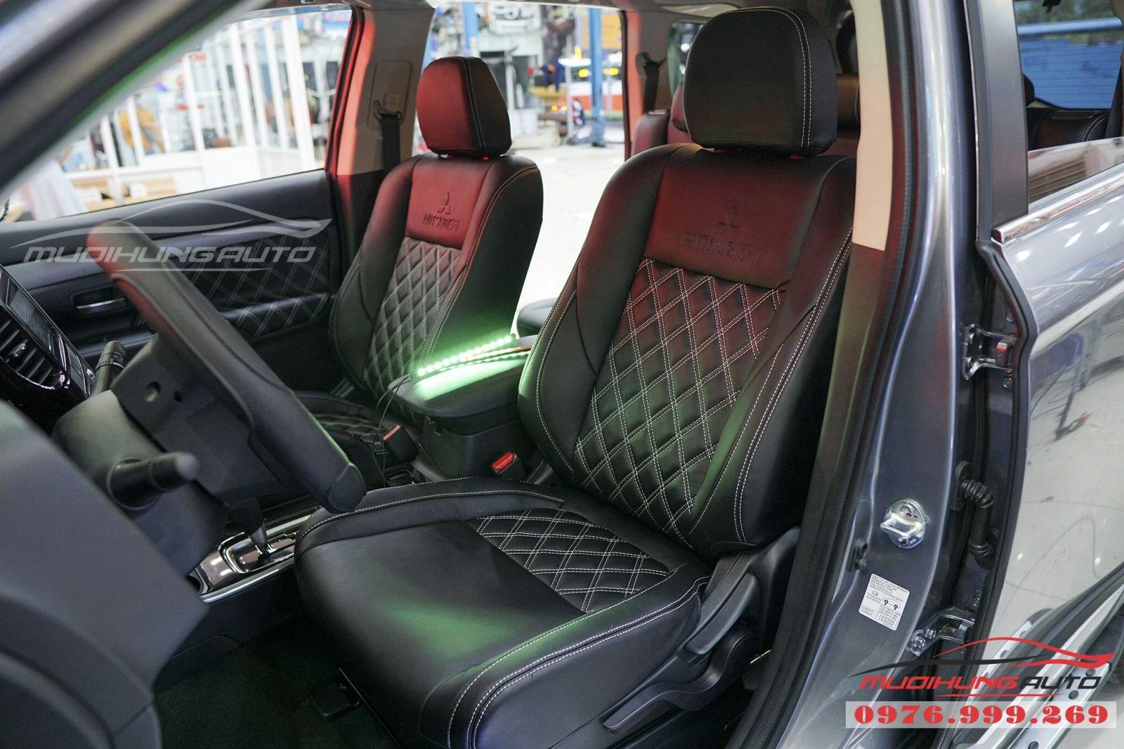 Mitsubishi Outlander bọc ghế cao cấp giá rẻ tại TPHCM 02