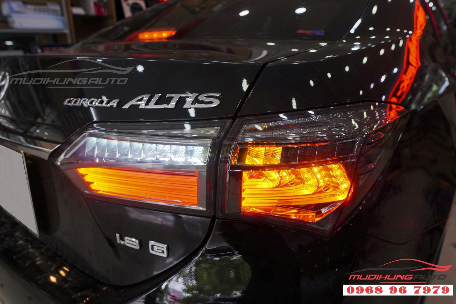 Nâng cấp đèn hậu LED nguyên bộ cho xe Altis 2018,2019 02