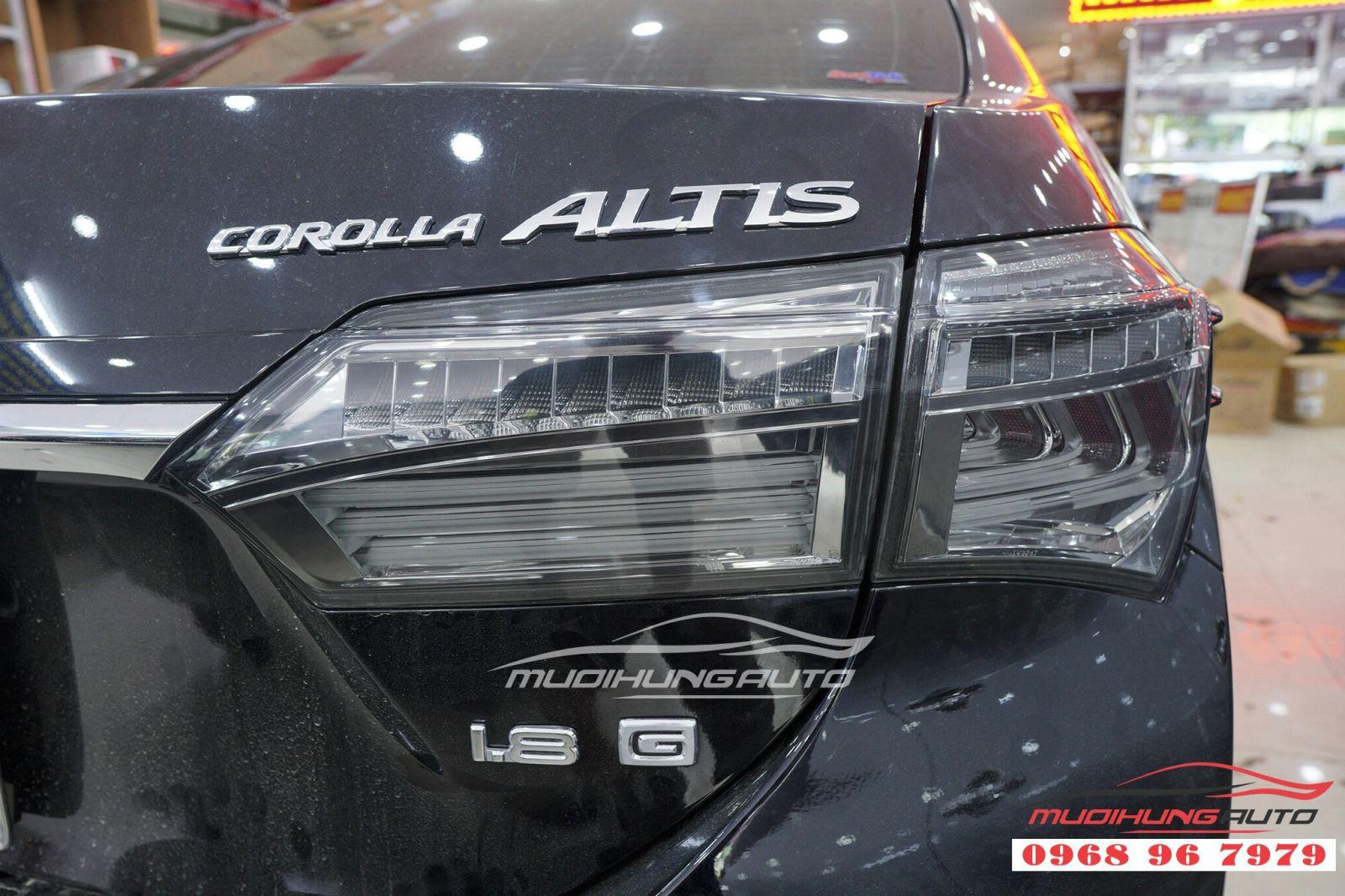 Nâng cấp đèn hậu LED nguyên bộ cho xe Altis 2018,2019 05