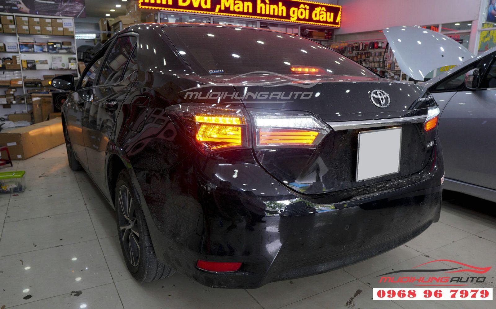 Nâng cấp đèn hậu LED nguyên bộ cho xe Altis 2018,2019