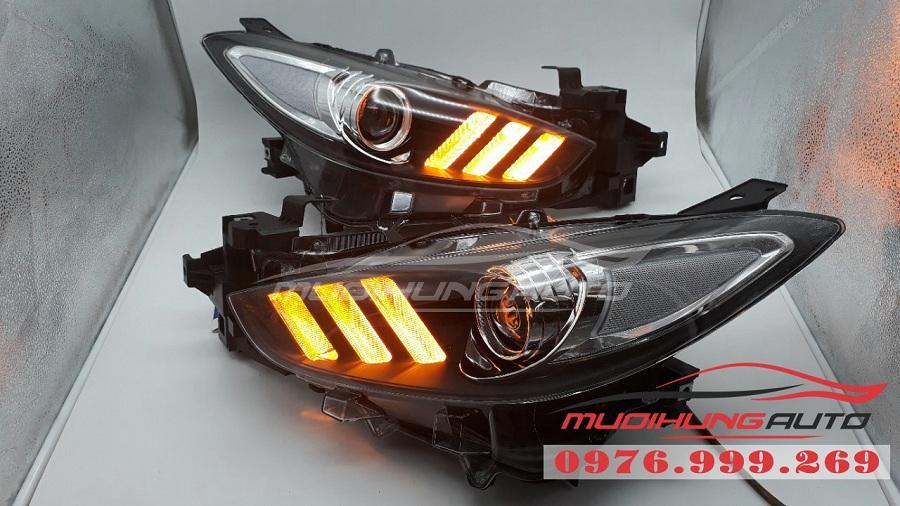 Nâng cấp đèn pha Mustang cho xe Mazda 3 2018 01