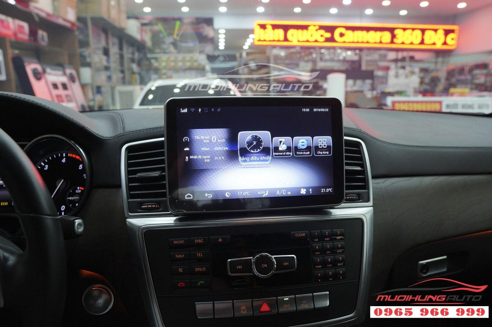 Thay DVD Android chính hãng cho Mercedes GLS 01