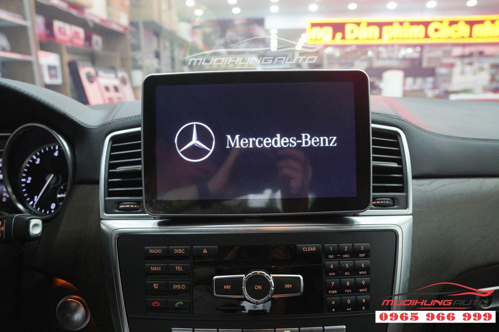 Thay DVD Android chính hãng cho Mercedes GLS 02