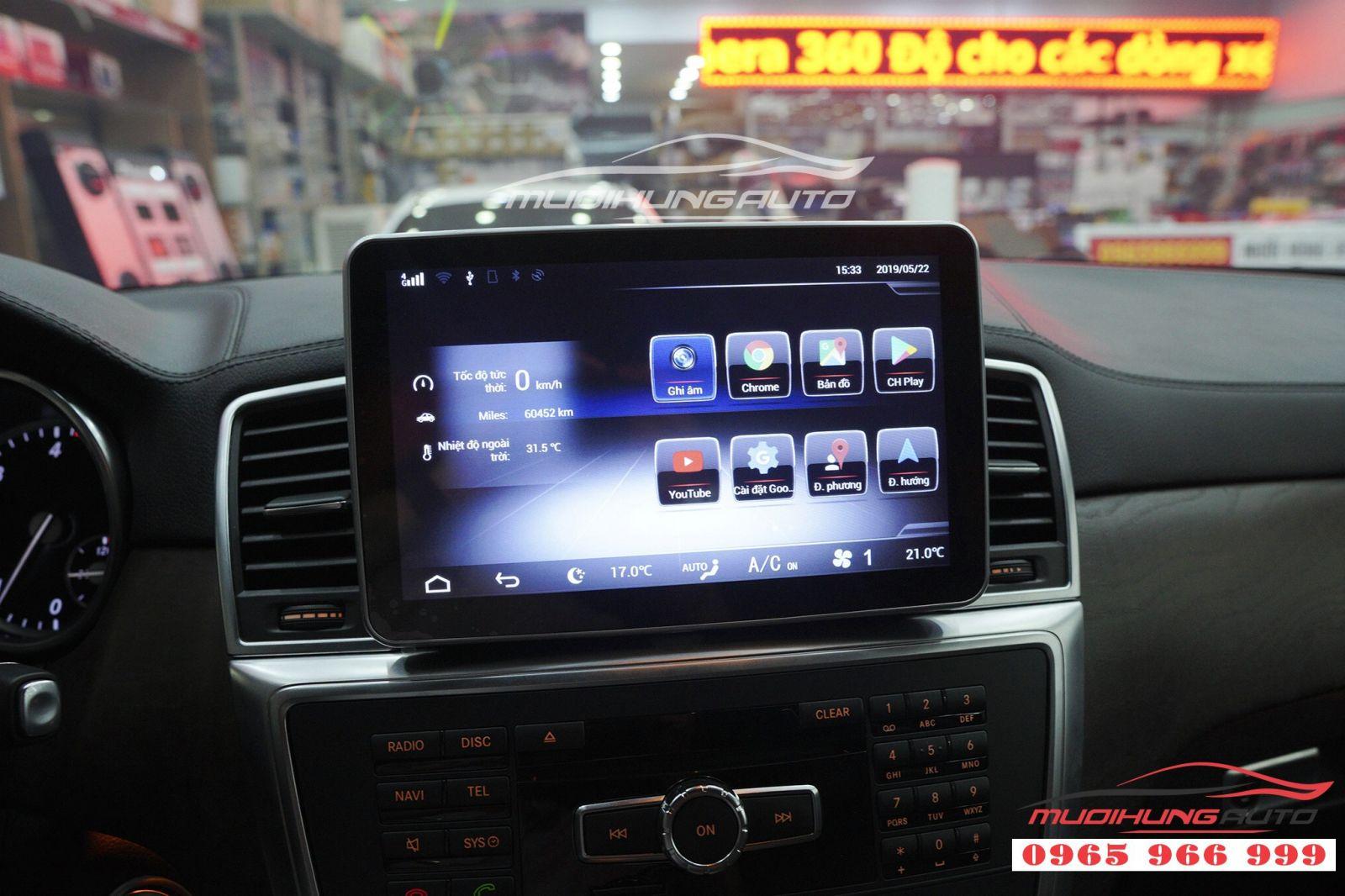 Thay DVD Android chính hãng cho Mercedes GLS 03