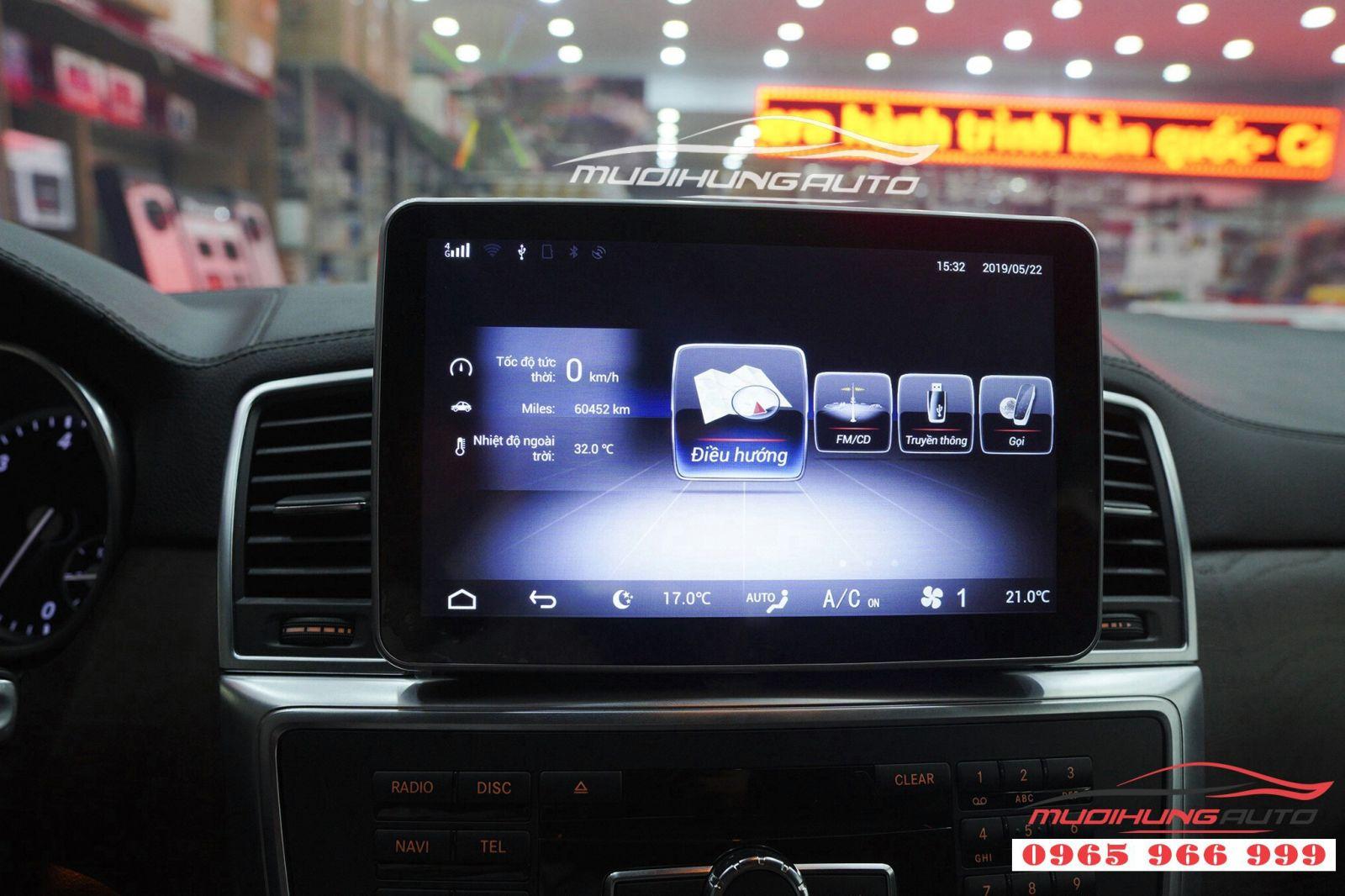 Thay DVD Android chính hãng cho Mercedes GLS 06