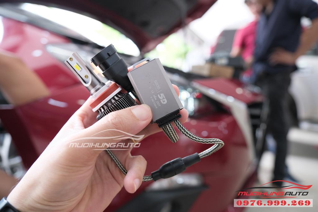 Thay bóng xenon Philips bên Cos và gắn bóng Led Pha xe Mazda 3 07