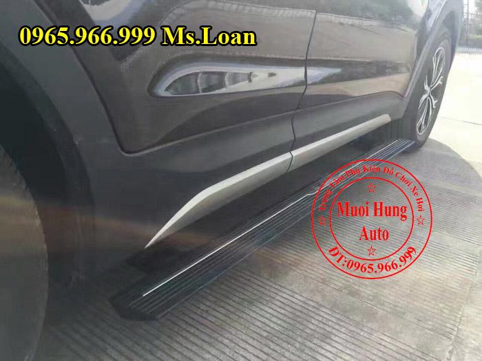 Bệ Bước Điện Chính Hãng Xe Hyundai Santafe 02