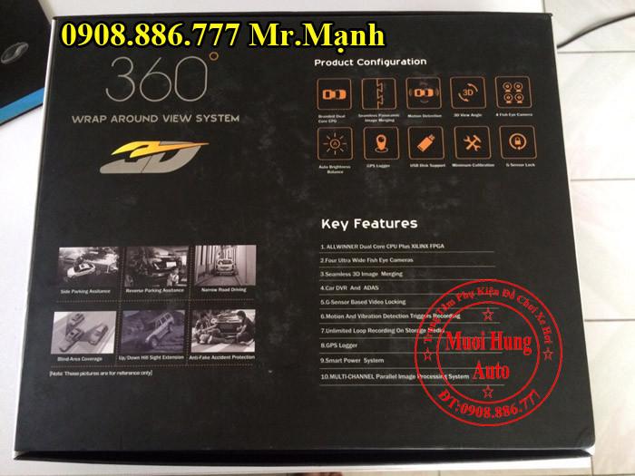 Camera 360 Độ Chính Hãng Cho Xe Santafe 01