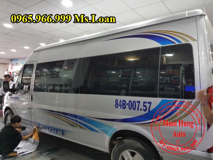Dán Tem Cho Xe Ford Transit Tại Tphcm