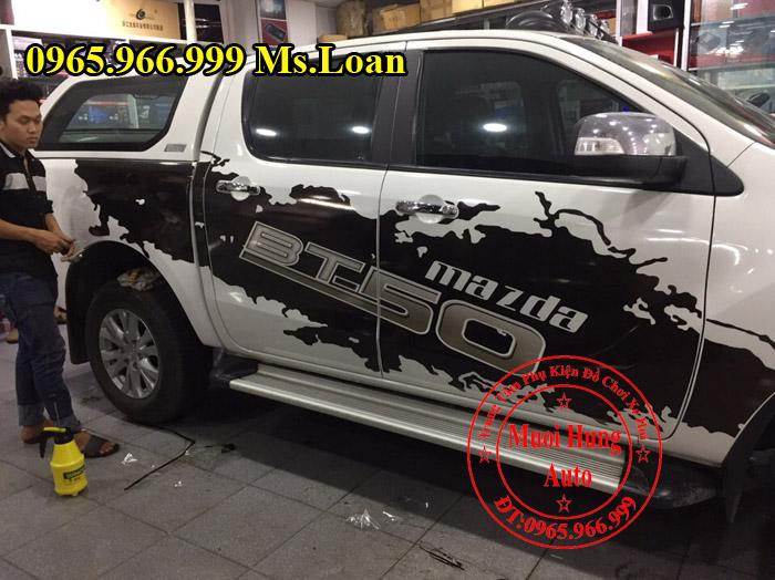 Dán Decal Tem Cho Mazda BT50 2016, 2017 01