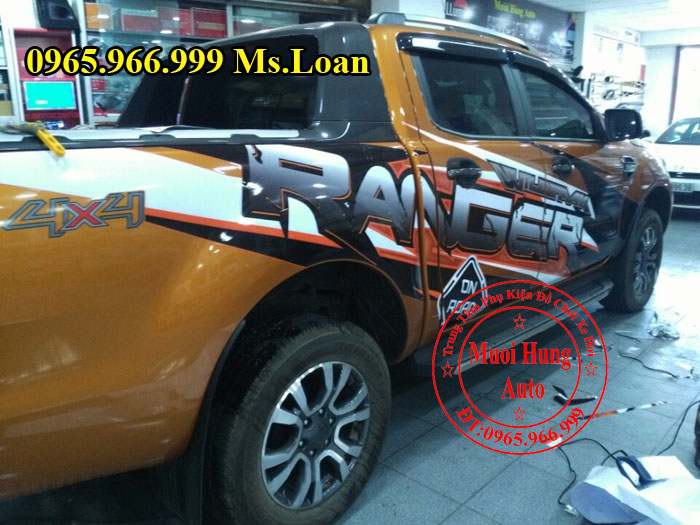 Dán Decal Xe Ford Ranger Wildtrak 2016, 2017 02