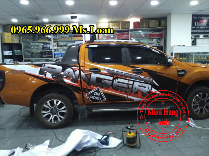 Dán Decal Xe Ford Ranger Wildtrak 2016, 2017 03