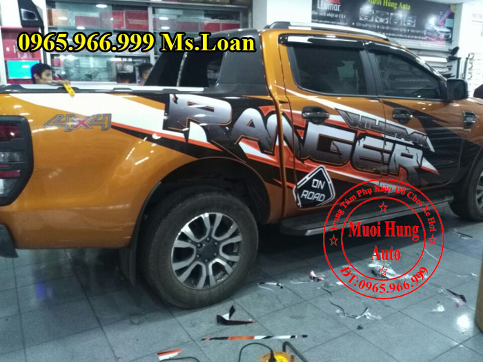 Dán Decal Xe Ford Ranger Wildtrak 2016, 2017