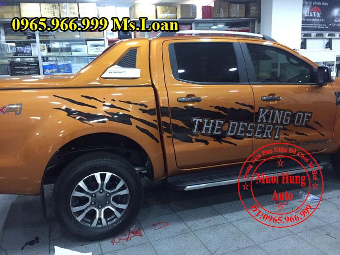 Dán Decal Xe Ford Ranger Wildtrak Tại Tphcm 02