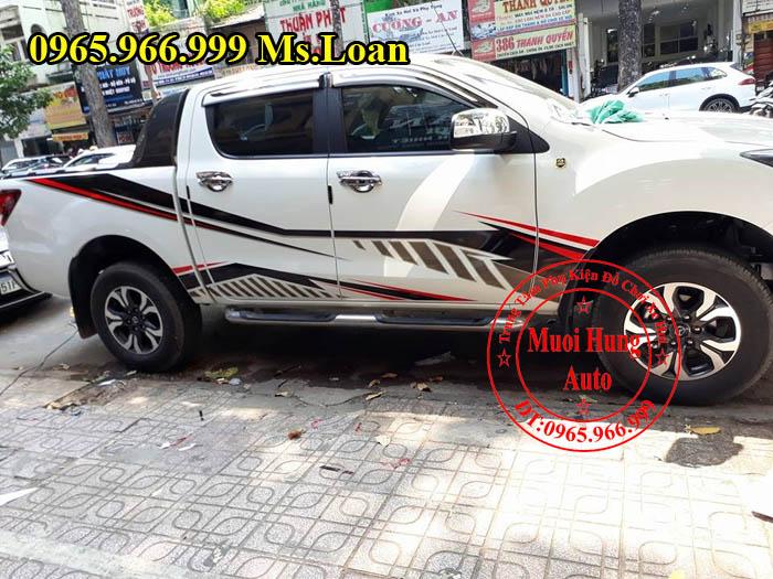 Dán Tem Hông Siêu Đẹp Xe Mazda BT50 02