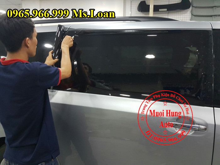 Dán Phim Cách Nhiệt 3M Xe Toyota Sienna 01