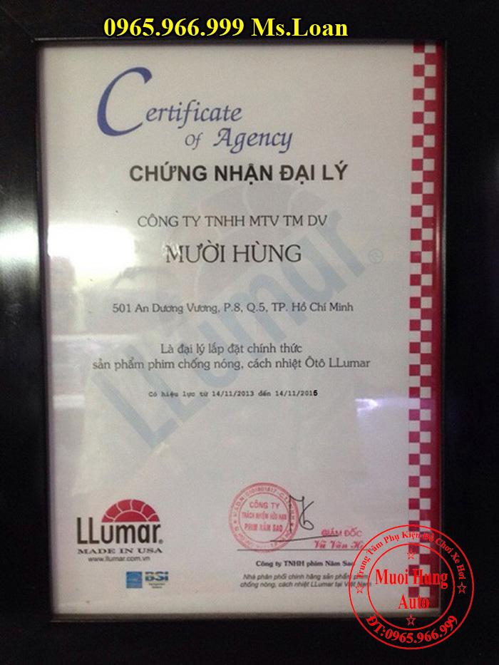 Dán Phim Cách Nhiệt Llumar Cho Kia Morning 03