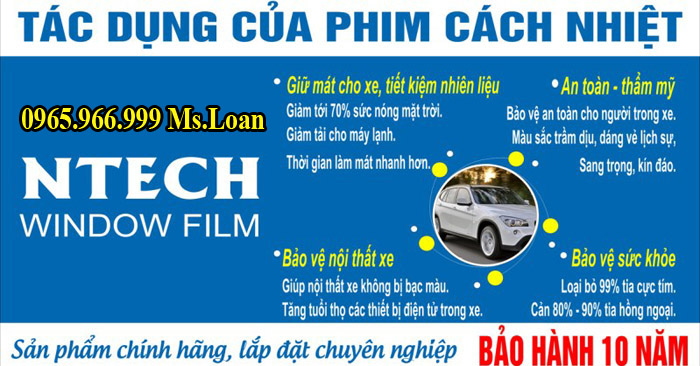 Dán Phim Cách Nhiệt Ntech Cho Camry 01
