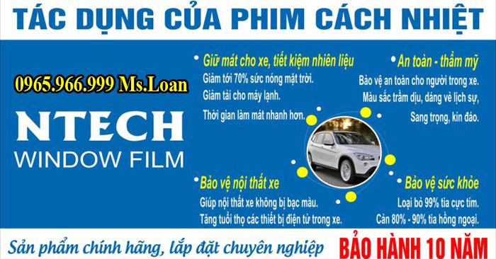 Dán Phim Cách Nhiệt NTech Cho Xe Fortuner 10