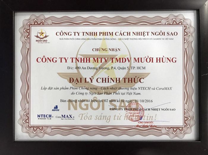 Dán Phim Cách Nhiệt NTech Cho Honda Accord 01
