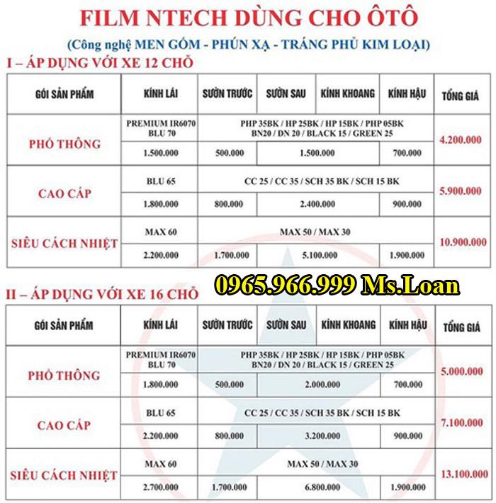 Dán Phim Cách Nhiệt NTech Cho Honda Accord 03
