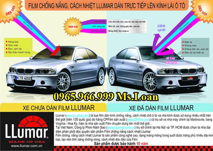 Dán Phim Cách Nhiệt Llumar Xe Hyundai Sonata