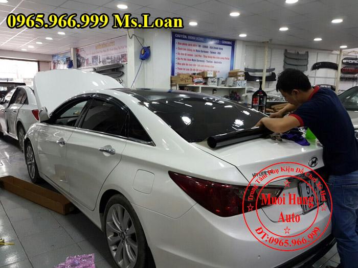 Dán Phim Cách Nhiệt Llumar Xe Hyundai Sonata 03