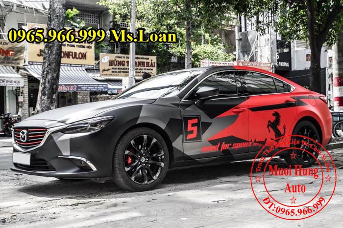 Dán Tem Thể Thao Cho Xe Mazda 6