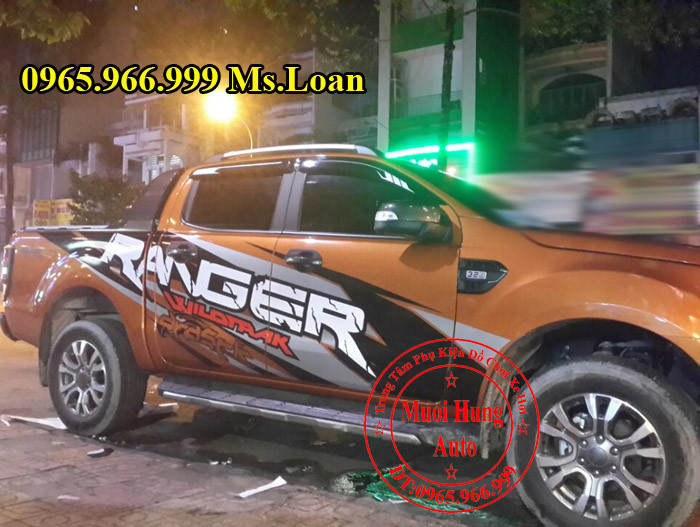 Dán Tem Xe Ford Ranger 2016 Siêu Đẹp 01