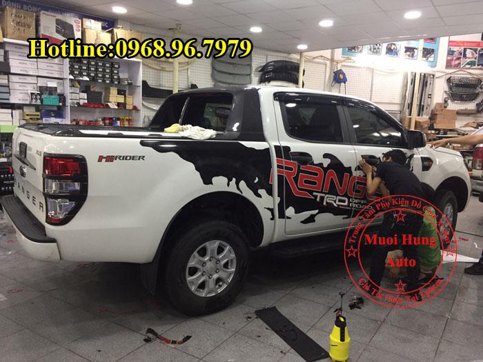 Dán Tem Xe Ford Ranger 2017 Cao Cấp 01