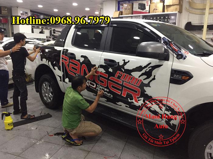 Dán Tem Xe Ford Ranger 2017 Cao Cấp 03
