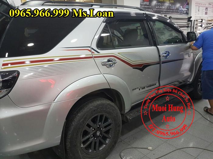 Dán Tem Xe Toyota Fortuner Tại Tphcm