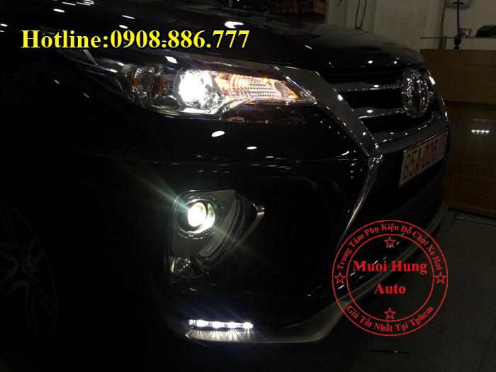 Độ Đèn Bi Cản Toyota Fortuner 2016, 2017