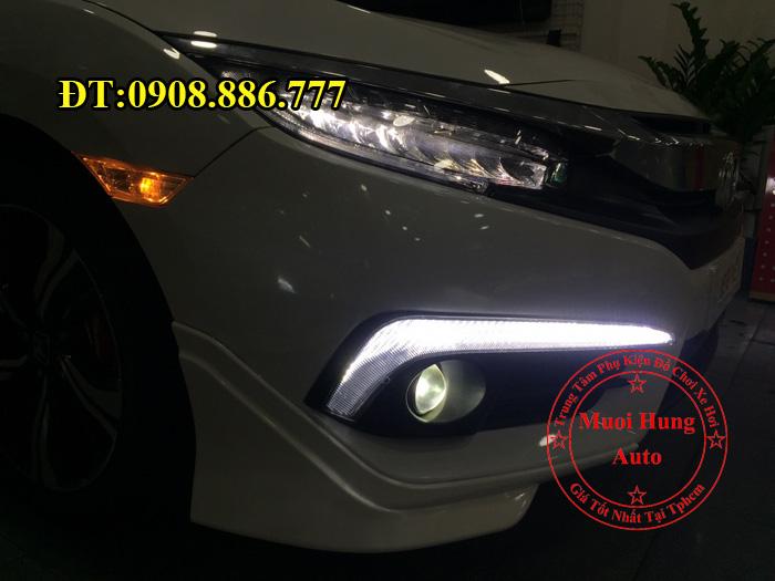 Độ Đèn Bi Gầm Xe Civic 2016, 2017 01