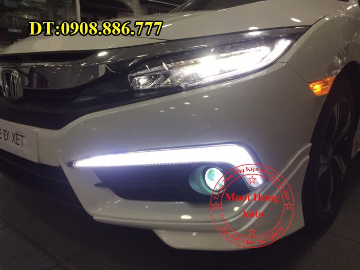 Độ Đèn Bi Gầm Xe Civic 2016, 2017 02