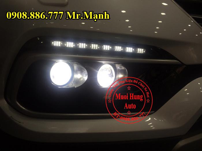 Độ Đèn Bi Cản Hyundai Santafe 2016, 2017 01