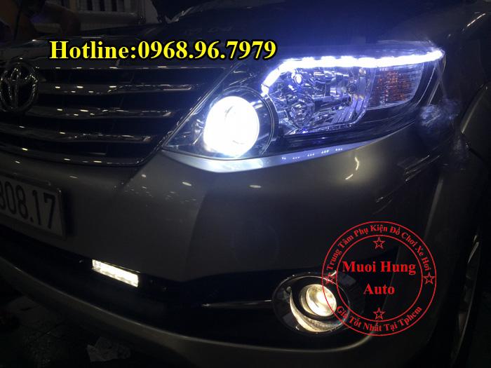 Độ Đèn Bi Gầm Toyota Fortuner Siêu Sáng 01