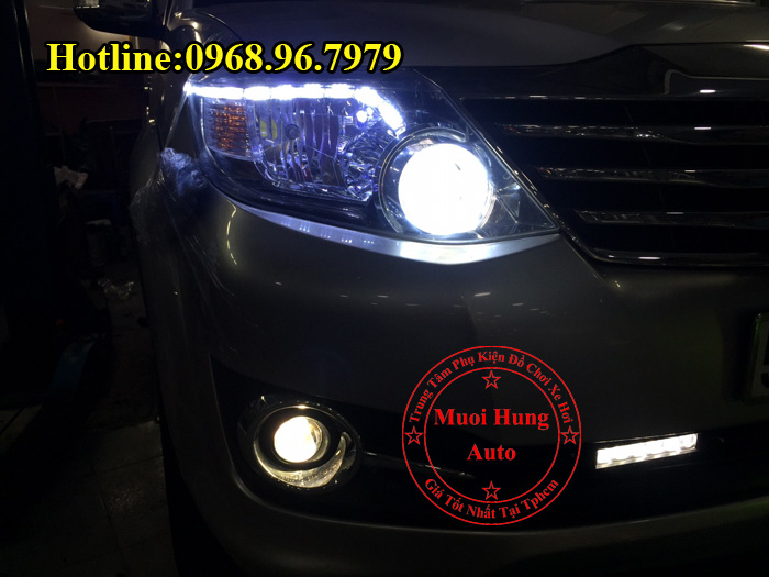 Độ Đèn Bi Gầm Toyota Fortuner Siêu Sáng