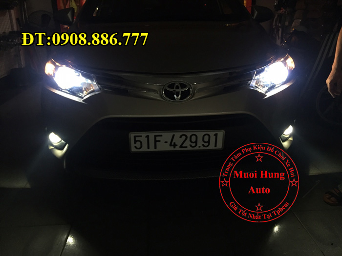Độ Đèn Bi Gầm Toyota Vios 2016, 2017 03