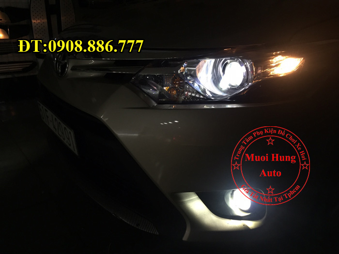 Độ Đèn Bi Gầm Toyota Vios 2016, 2017 01