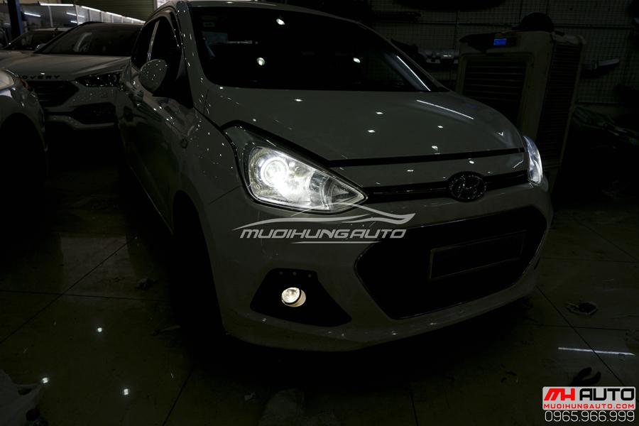 Độ Đèn Bi Xenon Hyundai i10 Chuyên Nghiệp 01