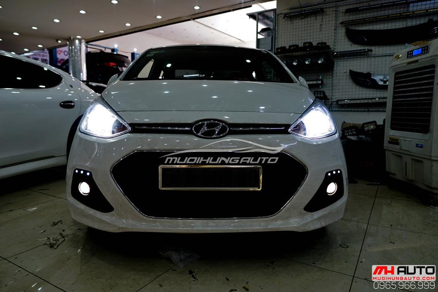 Độ Đèn Bi Xenon Hyundai i10 Chuyên Nghiệp 03