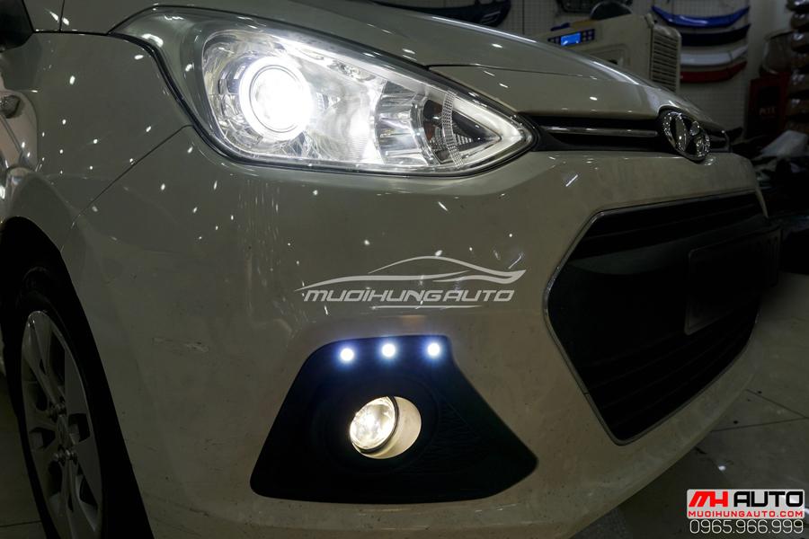 Độ Đèn Bi Xenon Hyundai i10 Chuyên Nghiệp 08