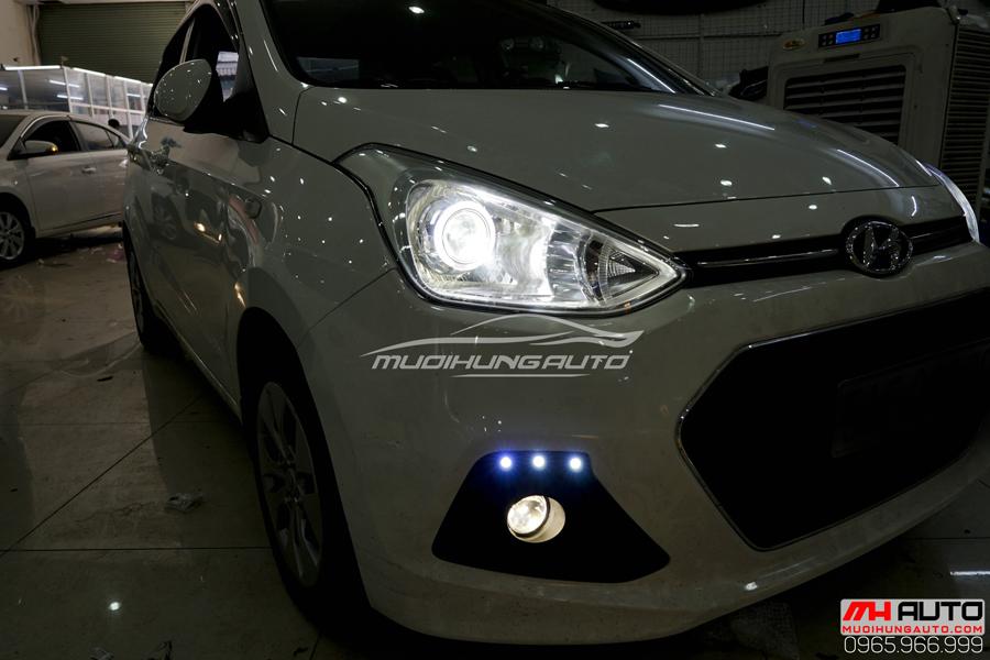 Độ Đèn Bi Xenon Hyundai i10 Chuyên Nghiệp 09