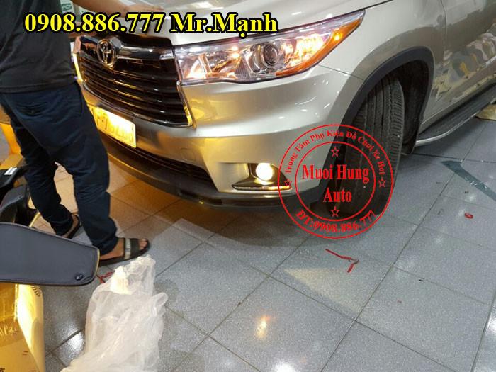Độ Đèn Cho Xe Toyota Highlander Tại Tphcm 02