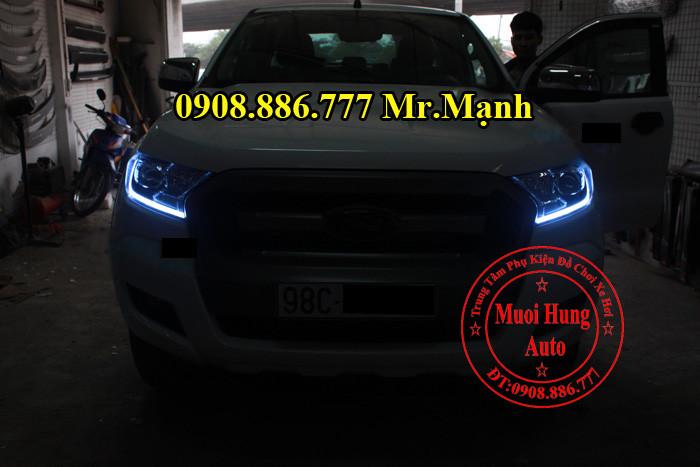 Độ Đèn Ford Ranger 2016 Tại TPHCM 02