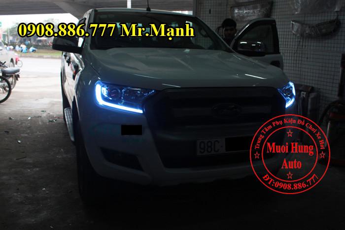 Độ Đèn Ford Ranger 2016 Tại TPHCM 03
