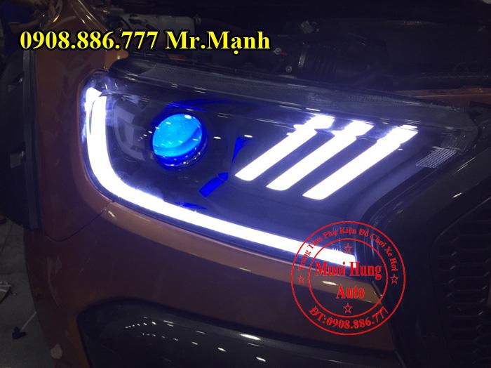 Độ Đèn Led, Mắt Quỷ Xe Ford Ranger 01
