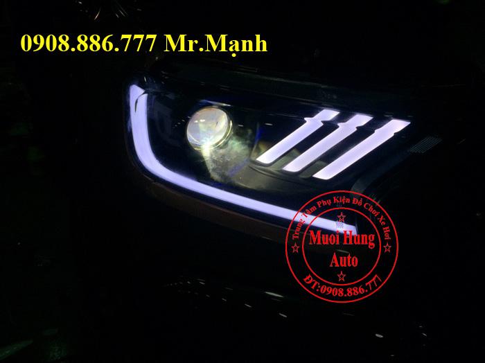 Độ Đèn Led, Mắt Quỷ Xe Ford Ranger 02